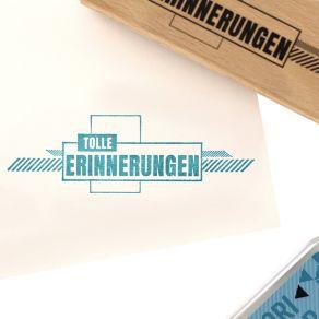 Tampon bois allemand TOLLE ERINNERUNGEN par Florilèges Design. Scrapbooking et loisirs créatifs. Livraison rapide et cadeau d...