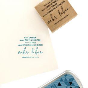 Tampon bois allemand NOCH MEHR LIEBE par Florilèges Design. Scrapbooking et loisirs créatifs. Livraison rapide et cadeau dans...