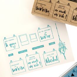 Tampon bois espagnol PARA MI TABLERO par Florilèges Design. Scrapbooking et loisirs créatifs. Livraison rapide et cadeau dans...
