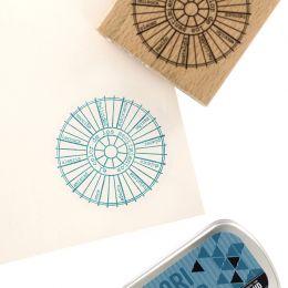 Tampon bois espagnol RUEDA CROMÁTICA par Florilèges Design. Scrapbooking et loisirs créatifs. Livraison rapide et cadeau dans...