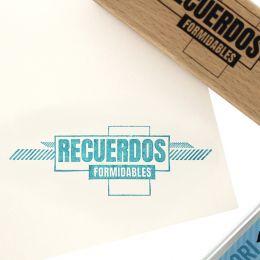 Parfait pour créer : Tampon bois espagnol RECUERDOS FORMIDABLES par Florilèges Design. Livraison rapide et cadeau dans chaque...