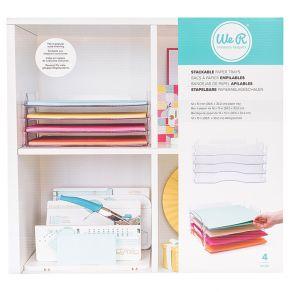 Bacs de rangement pour papier empilables 30,5 x 33,2 cm par We R Memory Keepers. Scrapbooking et loisirs créatifs. Livraison ...