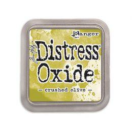 Encre Distress OXIDE CRUSHED OLIVE par Ranger. Scrapbooking et loisirs créatifs. Livraison rapide et cadeau dans chaque comma...
