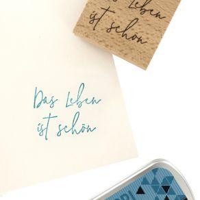 Tampon bois allemand SCHÖNES LEBEN par Florilèges Design. Scrapbooking et loisirs créatifs. Livraison rapide et cadeau dans c...