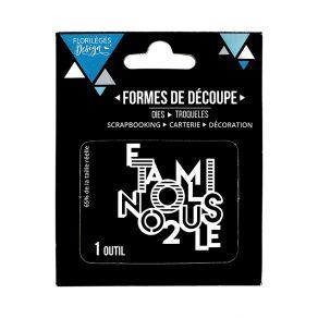 Outil de découpe TOI ET NOUS par Florilèges Design. Scrapbooking et loisirs créatifs. Livraison rapide et cadeau dans chaque ...