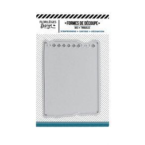 Outil de découpe FEUILLE DE CARNET par Florilèges Design. Scrapbooking et loisirs créatifs. Livraison rapide et cadeau dans c...