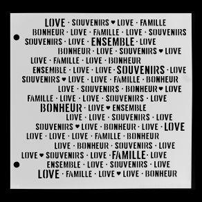 Pochoir BONHEUR ENSEMBLE par Florilèges Design. Scrapbooking et loisirs créatifs. Livraison rapide et cadeau dans chaque comm...