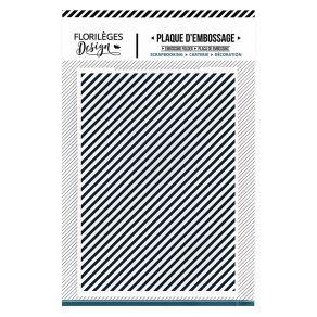 PROMO de -60% sur Plaque d'embossage EN DIAGONALE Florilèges Design