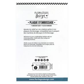 PROMO de -60% sur Plaque d'embossage FEUILLAGES Florilèges Design