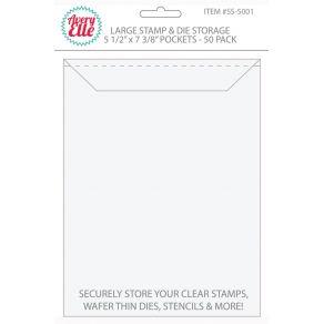 Set de 50 pochettes de rangement pour tampons clear et dies LARGE par Avery Elle. Scrapbooking et loisirs créatifs. Livraison...