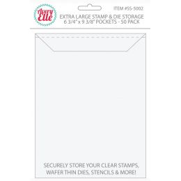 Set de 50 pochettes de rangement pour tampons clear et dies EXTRA LARGE par Avery Elle. Scrapbooking et loisirs créatifs. Liv...