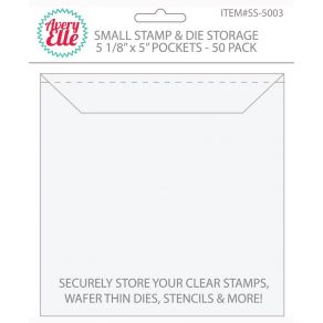 Set de 50 pochettes de rangement pour tampons clear et dies SMALL par Avery Elle. Scrapbooking et loisirs créatifs. Livraison...