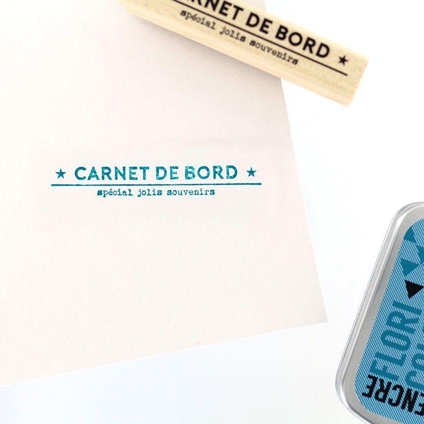 Tampon bois CARNET DE SOUVENIRS par Florilèges Design. Scrapbooking et loisirs créatifs. Livraison rapide et cadeau dans chaq...