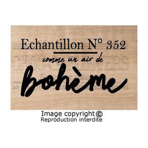 Tampon bois ECHANTILLON N°352 par Chou and Flowers. Scrapbooking et loisirs créatifs. Livraison rapide et cadeau dans chaque ...