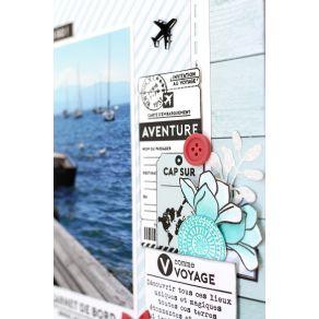 Tampons clear CAP SUR L'AVENTURE par Florilèges Design. Scrapbooking et loisirs créatifs. Livraison rapide et cadeau dans cha...