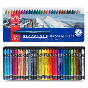 Coffret de 30 Pastels aquarellables Neocolor II