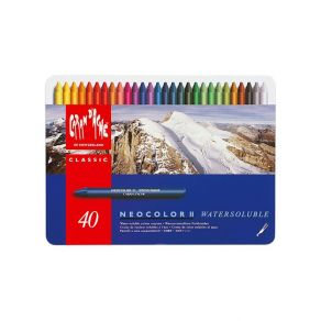 Coffret de 40 Pastels aquarellables Neocolor II