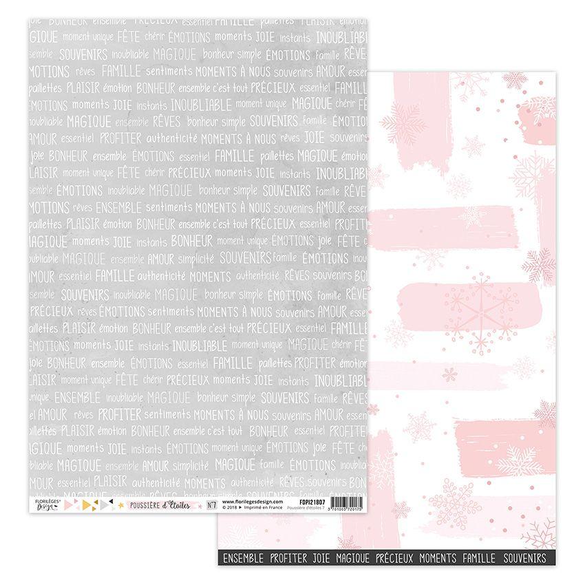 Parfait pour créer : Papier imprimé POUSSIÈRE D'ÉTOILES 7 par Florilèges Design. Livraison rapide et cadeau dans chaque comma...