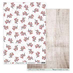 Parfait pour créer : Papier imprimé COSY CHRISTMAS 3 par Florilèges Design. Livraison rapide et cadeau dans chaque commande.
