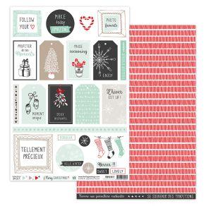 Parfait pour créer : Papier imprimé COSY CHRISTMAS 8 par Florilèges Design. Livraison rapide et cadeau dans chaque commande.