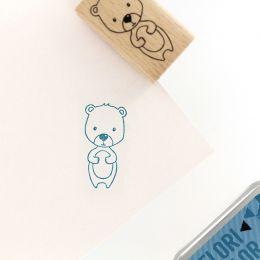 Tampon bois MON PETIT OURSON par Florilèges Design. Scrapbooking et loisirs créatifs. Livraison rapide et cadeau dans chaque ...