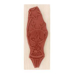 Tampon bois LILI JOLIE par Florilèges Design. Scrapbooking et loisirs créatifs. Livraison rapide et cadeau dans chaque commande.