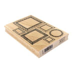 Tampon bois SIX CADRES par Florilèges Design. Scrapbooking et loisirs créatifs. Livraison rapide et cadeau dans chaque commande.