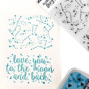 Tampons clear DANS LES ÉTOILES par Florilèges Design. Scrapbooking et loisirs créatifs. Livraison rapide et cadeau dans chaqu...