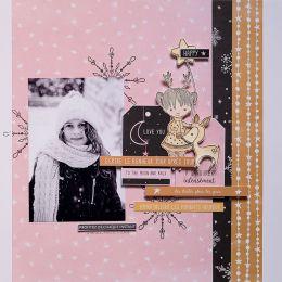 Papier imprimé POUSSIÈRE D'ÉTOILES 8 par Florilèges Design. Scrapbooking et loisirs créatifs. Livraison rapide et cadeau dans...