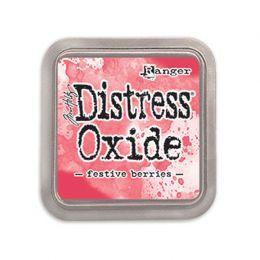 Encre Distress OXIDE FESTIVE BERRIES par Ranger. Scrapbooking et loisirs créatifs. Livraison rapide et cadeau dans chaque com...