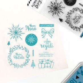 Parfait pour créer : Tampon clear italien AUGURI DI NATALE par Florilèges Design. Livraison rapide et cadeau dans chaque comm...