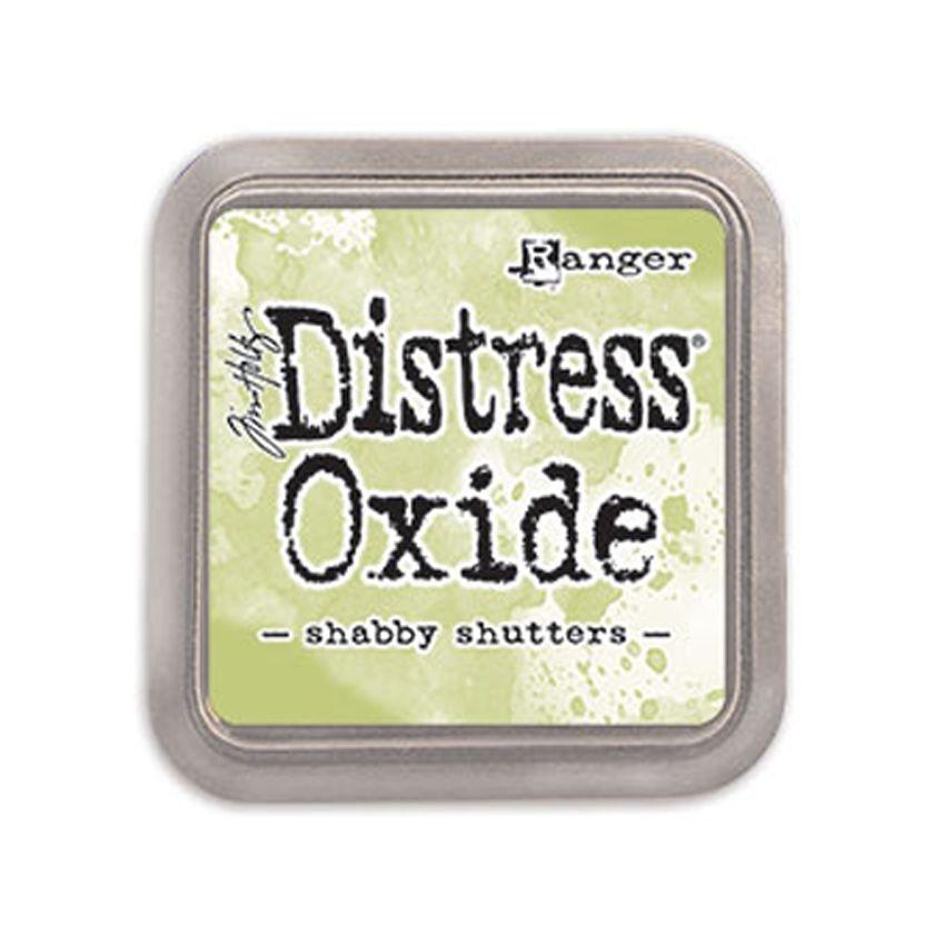 Encre Distress OXIDE SHABBY SHUTTERS par Ranger. Scrapbooking et loisirs créatifs. Livraison rapide et cadeau dans chaque com...