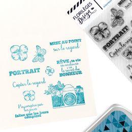 Tampons clear CAPTER LE REGARD par Florilèges Design. Scrapbooking et loisirs créatifs. Livraison rapide et cadeau dans chaqu...