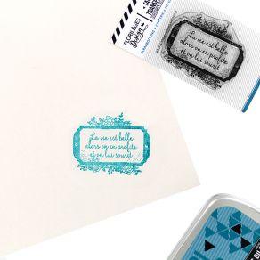Tampon clear LABEL FLEURI par Florilèges Design. Scrapbooking et loisirs créatifs. Livraison rapide et cadeau dans chaque com...