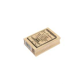 Tampon bois AMOUR AU PRÉSENT par Florilèges Design. Scrapbooking et loisirs créatifs. Livraison rapide et cadeau dans chaque ...