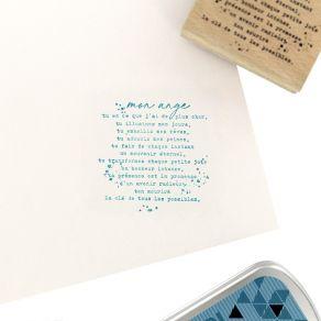 Tampon bois MON ANGE par Florilèges Design. Scrapbooking et loisirs créatifs. Livraison rapide et cadeau dans chaque commande.