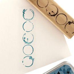 Tampon bois CERCLES GRUNGE par Florilèges Design. Scrapbooking et loisirs créatifs. Livraison rapide et cadeau dans chaque co...