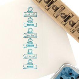 Tampon bois HAPPY PINCES par Florilèges Design. Scrapbooking et loisirs créatifs. Livraison rapide et cadeau dans chaque comm...