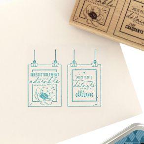 Tampon bois DÉTAILS CRAQUANTS par Florilèges Design. Scrapbooking et loisirs créatifs. Livraison rapide et cadeau dans chaque...