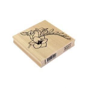 Tampon bois FREESIA par Florilèges Design. Scrapbooking et loisirs créatifs. Livraison rapide et cadeau dans chaque commande.