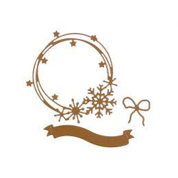 Outils de découpe COURONNE D'HIVER par Florilèges Design. Scrapbooking et loisirs créatifs. Livraison rapide et cadeau dans c...