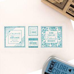 Tampon bois S'AIMER SIMPLEMENT par Florilèges Design. Scrapbooking et loisirs créatifs. Livraison rapide et cadeau dans chaqu...