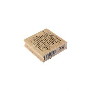 Tampon bois italien ANGELO MIO par Florilèges Design. Scrapbooking et loisirs créatifs. Livraison rapide et cadeau dans chaqu...