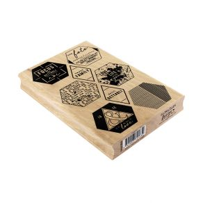 Tampon bois italien ESAGONI par Florilèges Design. Scrapbooking et loisirs créatifs. Livraison rapide et cadeau dans chaque c...