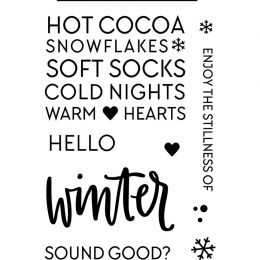 PROMO de -40% sur Tampons clear HELLO WINTER Neat And Tangled