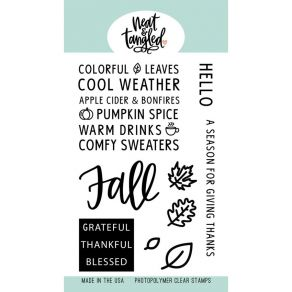 PROMO de -40% sur Tampons clear HELLO FALL Neat And Tangled