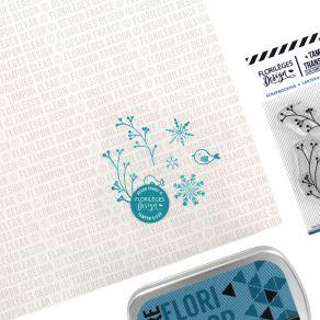 Tampons clear FEUILLAGES D'HIVER par Florilèges Design. Scrapbooking et loisirs créatifs. Livraison rapide et cadeau dans cha...