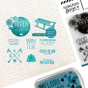 Tampons clear SPORTS D'HIVER par Florilèges Design. Scrapbooking et loisirs créatifs. Livraison rapide et cadeau dans chaque ...