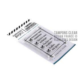 Tampons clear TO DO LIST par Florilèges Design. Scrapbooking et loisirs créatifs. Livraison rapide et cadeau dans chaque comm...