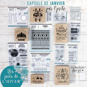 Pack complet capsule de Janvier 2019 par Florilèges Design. Scrapbooking et loisirs créatifs. Livraison rapide et cadeau dans...